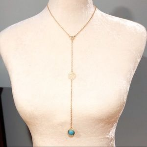 Jewelry - NWT Long Y Necklace Turquoise